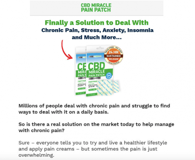CBD Pain Patch Offer